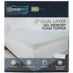 Beautyrest 2'' Dual Layer Gel Memory Foam Topper