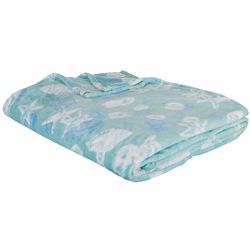 Coastal Home Shells Velvet Plush Blanket