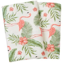 Coastal Home 2-pk. Flamingo Paradise Pillowcase Set