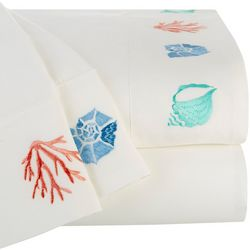 Coastal Home Shell & Reef Embroidered Sheet Set