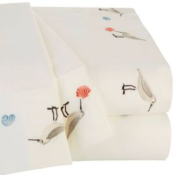 Coastal Home Sanpiper Embroidered Sheet Set