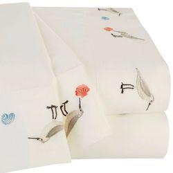 Coastal Home Sanpiper Embroidered Sheet Set