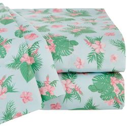 Coastal Home Tropical Floral Sheet Set
