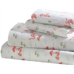 Universal Home Flamingo Palms Microfiber Sheet Set
