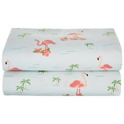 Universal Home 2-pk. Flamingo Palms Pillowcase Set