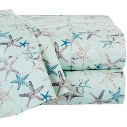 S.L. Home Fashions Starfish Print Sheet Set