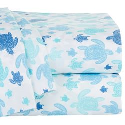 Coastal Home Sea Turtles Print Sheet Set