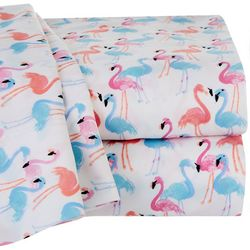 Coastal Home Flamingo Trio Microfiber Sheet Set
