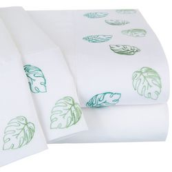 Coastal Home Tropical Embroidered Sheet Set
