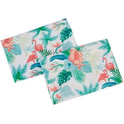 Coastal Home 2-pc. Forest Flamingo Pillowcase Set