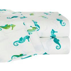 Elise & James Home Watercolor Seahorse Sheet Set