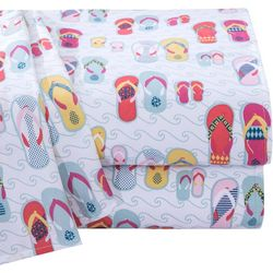 Coastal Home Flip Flops Microfiber Sheet Set
