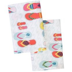 Coastal Home 2-pc. Flip Flops Pillowcase Set