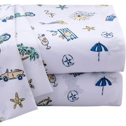 Coastal Home Florida Doodles Microfiber Sheet Set
