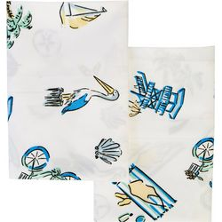 Coastal Home 2-pc. Florida Doodles Pillowcase Set