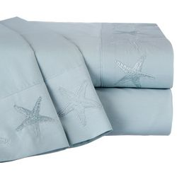 Panama Jack Cotton Percale Embroidered Starfish Sheet Set