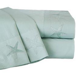 Panama Jack Cotton Percale Embroidered Starfish Sheet Set