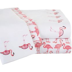 Coastal Home Flamingo Double Sheet Set
