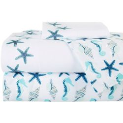 Coastal Home Sealife Double Sheet Set