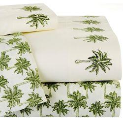 Coastal Home Palm Tree Double Sheet Set