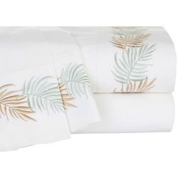 Panama Jack Embroidered Palm Frond Sheet Set