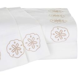 Panama Jack Embroidered Sand Dollar Sheet Set