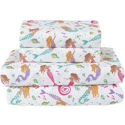 Beatrice Home Dancing Tails Mermaid Microfiber Sheet Set
