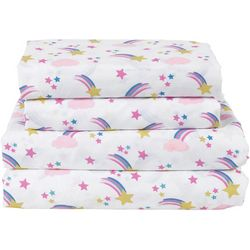 Beatrice Home Over The Rainbow Microfiber Sheet Set