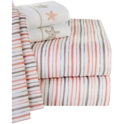Retreat Home Collection Sandy Stripe Sheet Set