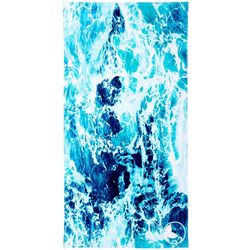 Reel Legends Seafoam Wave Beach Towel
