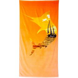 Reel Legends Boat Scene Beach Towel