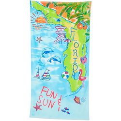 Tropix Florida Sun & Fun Beach Towel