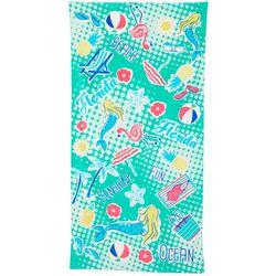 Tropix Florida Icons Beach Towel