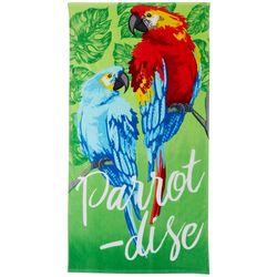 Tropix Parrot-dise Beach Towel
