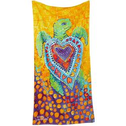 Leoma Lovegrove Sea Hearts Beach Towel