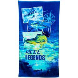 Reel Legends Snapshots Beach Towel
