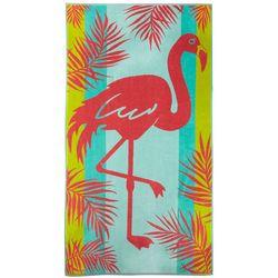Tropix Flamingo Palm Leaf Beach Towel