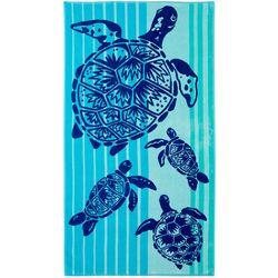 Tropix Sea Turtle Striped Beach Towel