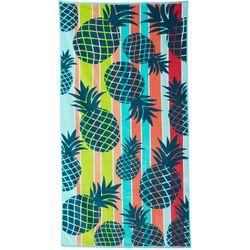 Tropix Pineapple Stripe Beach Towel