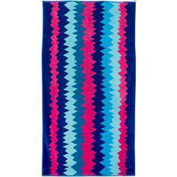 Tropix Chevron Stripe Jacquard Beach Towel