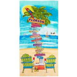 JGR Copa Florida Sign Post Beach Towel