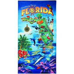 JGR Copa Florida Greetings Beach Towel