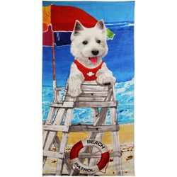 JGR Copa Dog On Duty Beach Towel