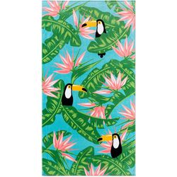 Safdie Tropical Floral Toucan Beach Towel