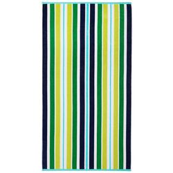 Safdie Green Stripe Beach Towel
