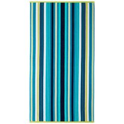 Safdie Aqua Blue Stripe Beach Towel