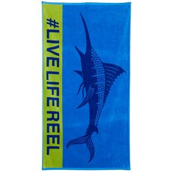 Reel Legends Sailfish Beach Towel