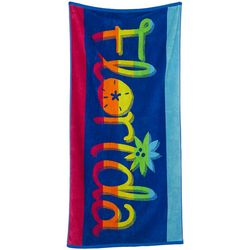 Tropix Bright Florida Beach Towel