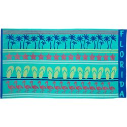 Tropix Hello Florida Beach Towel