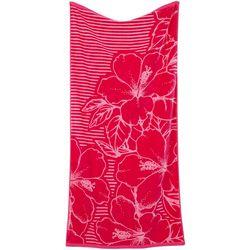 Tropix Hibiscus Stripe Beach Towel